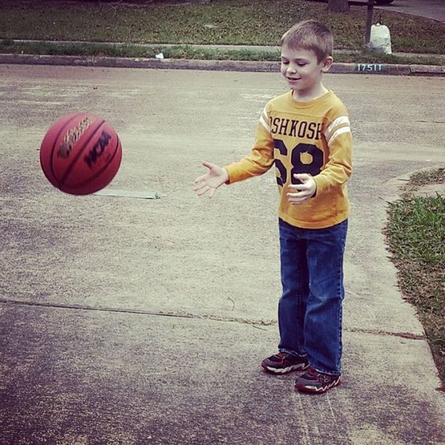 Little man has decided to try basketball Today we practicedhellip