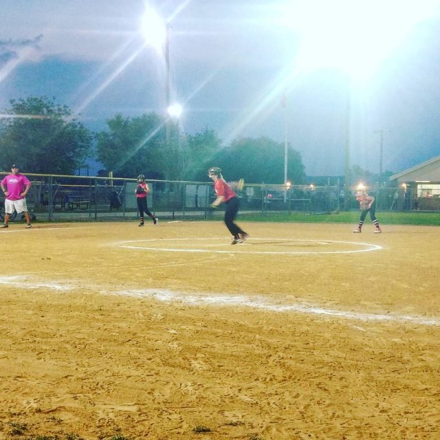 So proud of my girl!     softballhellip