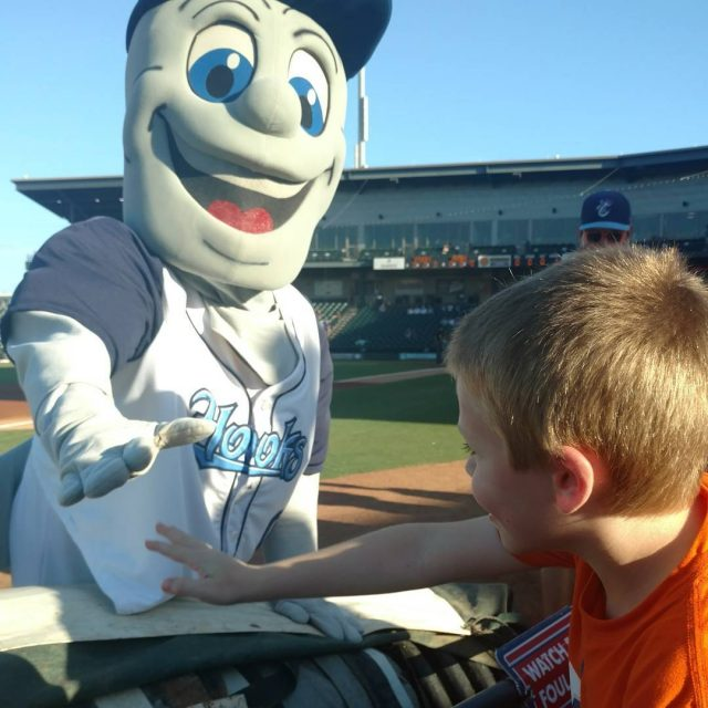 On the first row of a AA game! Go Hooks!hellip