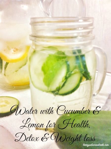 Water with Cucumber & Lemon for Health, Detox & Weight loss