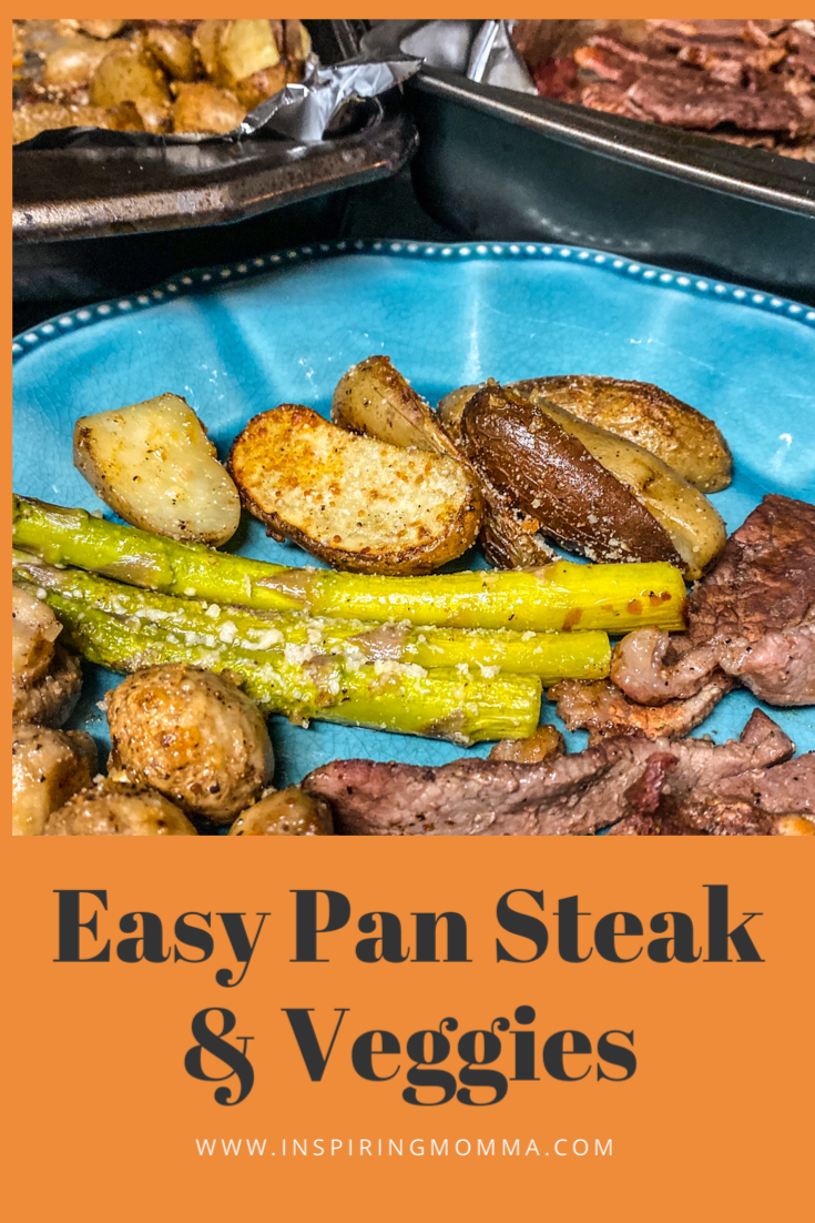 Easy Oven Baked Parmesan Steak and Veggie Sheet Pan Dinner