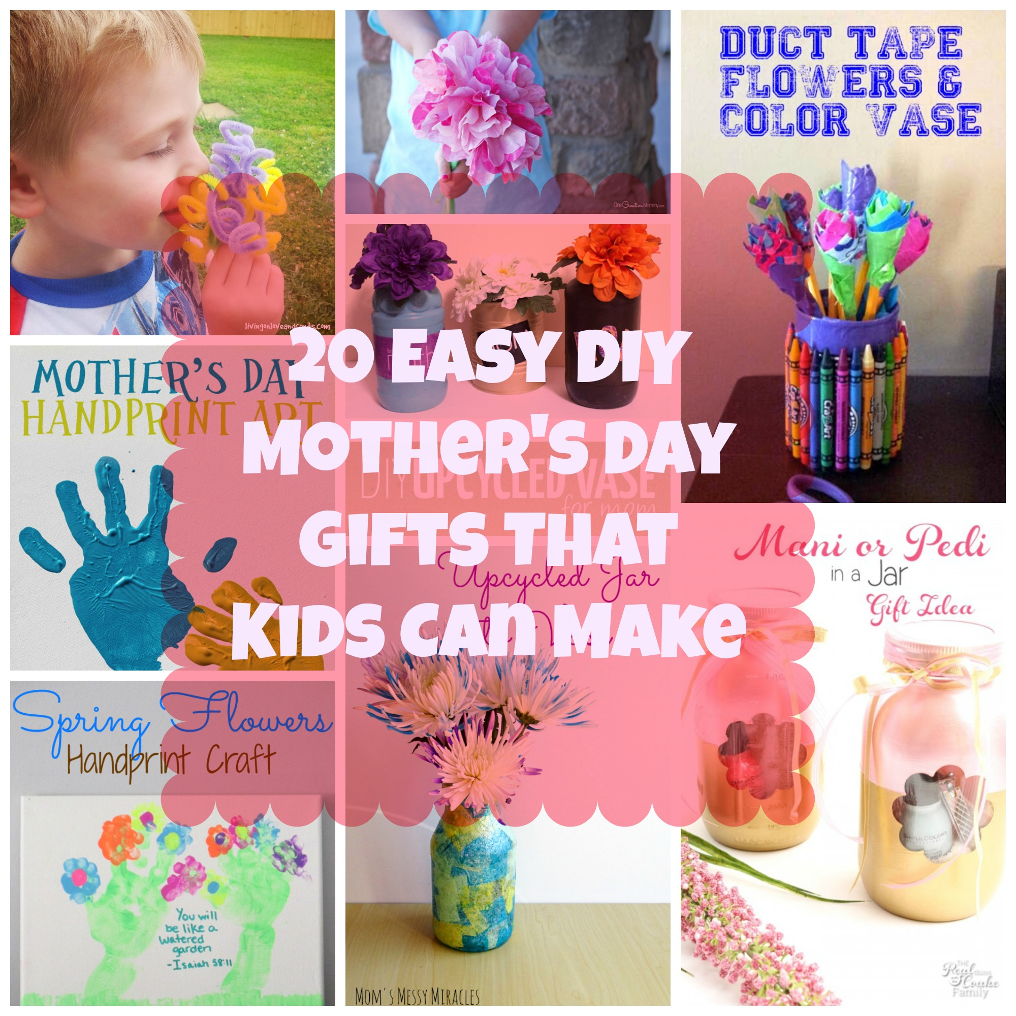 20 Easy Diy Mother S Day Gifts That Kids Can Make