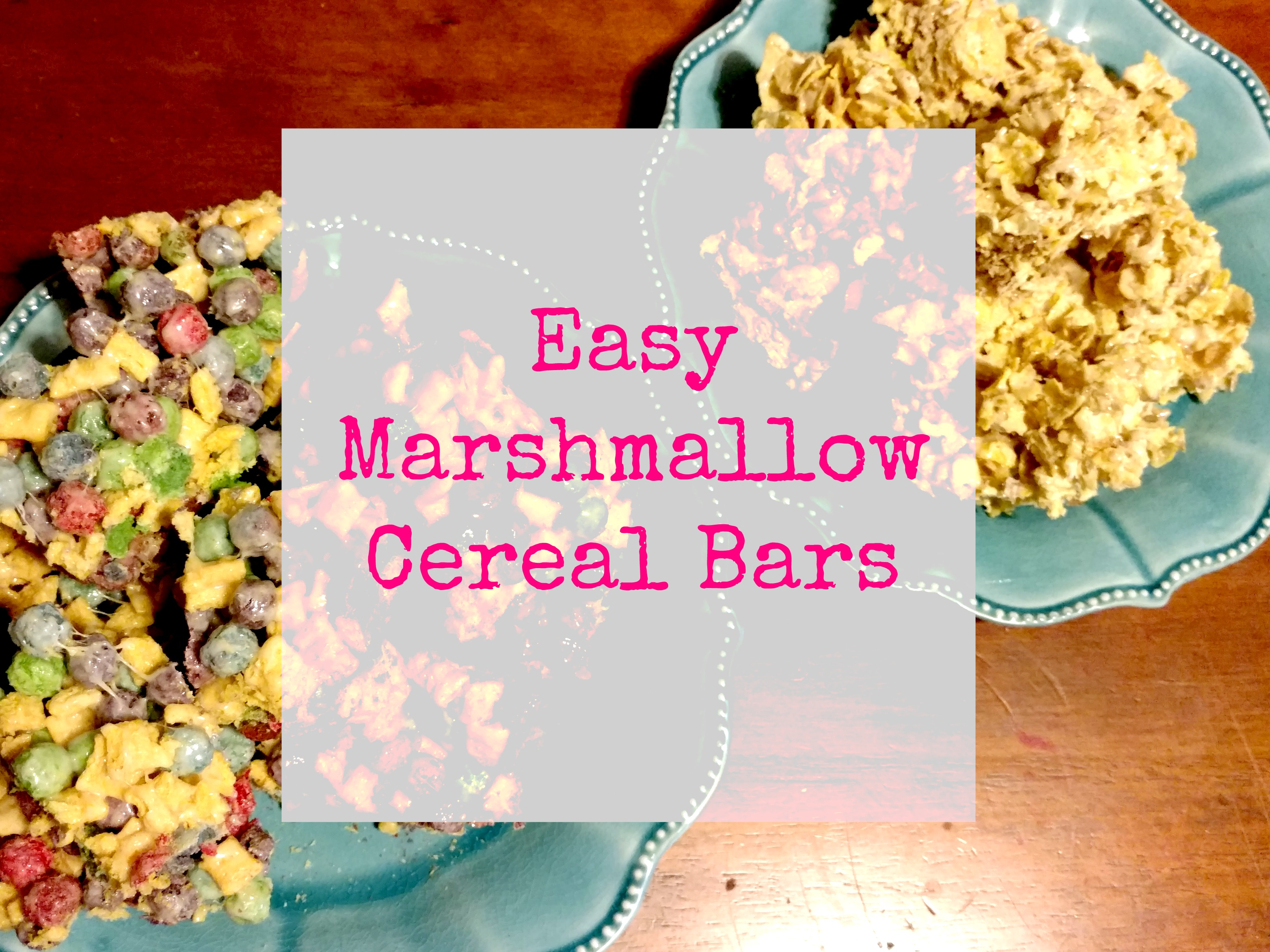 These marshmallow cereal bars are easy to make. Only 4 ingredients. YUM! #CerealAnytime