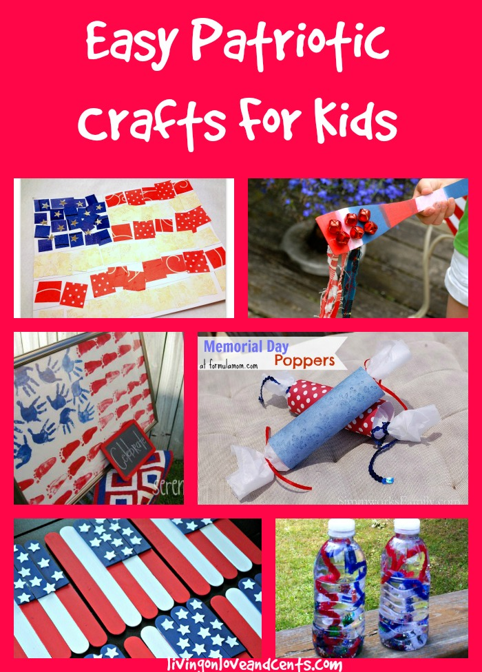 Easy Patriotic Crafts For Kids 4th Of July Memorial Day Crafts